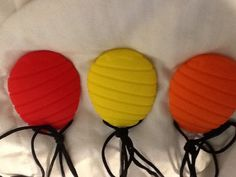 silicone chewable pendant and necklace Pineapple by Sensorbility