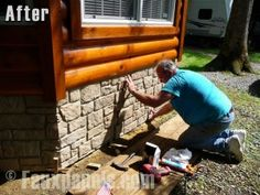 Mobile homes and modular homes have better curb appeal with faux stone panel skirting.