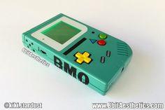 "Custom Black ""BMOBoy"" Backlit Original Nintendo Gameboy for Retro Gaming in the dark or LSDJ Chiptune"