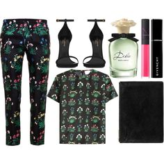 street style by sisaez on Polyvore featuring Valentino, Yves Saint Laurent, Whistles, Givenchy, NARS Cosmetics, Dolce&Gabbana, women's clothing, women's fashion, women and female