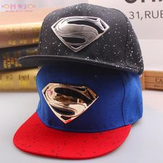 2015 Latest Popular Hip-Hop Explosion MARVEL cartoon Superman S Logo snapback Hats Baseball Cap braves hat(China (Mainland))