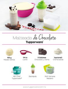 Malteada de Chocolate Tupperware.
