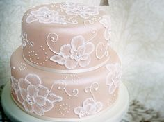 embroidery wedding cakes - Google Search