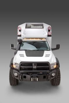 Adventure Trucks are four season recreational vehicles made for off road travel. Ram Trucks, Dodge Trucks, Diesel Trucks, Diy Camper, Truck Camper, Camper Ideas, Land Rover Defender, General Motors, Trailers
