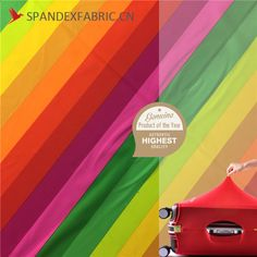Bi Stretch Rainbow Elastic Suitcase Cover Fabric is fabric used in suitcase cover, made from polyester spandex