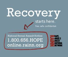 800 656 hope for the national sexual assault hotline sexualassault