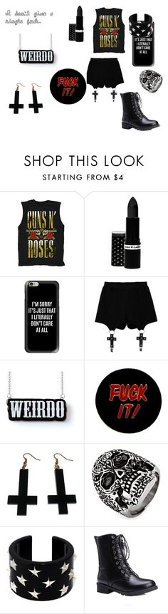 Don't care at all by whitenoiseiswatching on Polyvore featuring Chicnova Fashion, Humör, RED Valentino, West Coast Jewelry, Casetify and Hard Candy