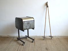 Metal filing cabinet- artKRAFT - Furniture&Design Drafting Desk, Filing Cabinet, Nightstand, Cabinets, Furniture Design, Storage, Metal, Table, Home Decor
