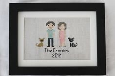 Another custom family portrait with two dogs!