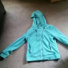 Sweatshirt SZ:L -baby blur sweatshirt that zips off to the side DoublJu Sweaters