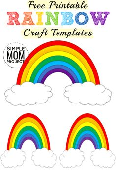 Looking for an easy Diy Crafts For Girls, Fun Diy Crafts, Diy Craft Projects, Rainbow Crafts, Rainbow Art, Rainbow Birthday, Unicorn Birthday Parties, Free Printable Coloring Sheets, Indoor Crafts