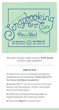 It's our Pin Your Dream Craft Room Competition, where you can win $250 in prizes!