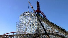 Twisted Colossus construction update HD Six Flags Magic Mountain