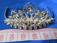 Tiara comb1.  small order is welcome2.  different size is avaiable3. customer's design is welcome