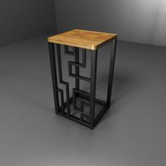 Stool, taboret, stołek, Kraina ES  #stool, #minimalism, #table, #industrial, #designstyle, minimal stool, #krainaes, #handcraft, #craft, #taboret, #stołek, #krzesełko, #krzesło, #minimalizm, #minimal, #ręczniewykonany