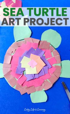 Craft Kits For Kids, Craft Activities For Kids, Projects For Kids, Art For Kids, Crafts For Kids, Ocean Activities, Sea Turtle Art, Clay Art Projects, Ocean Crafts