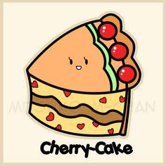 Kawaii Cherry Cake