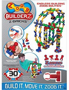 ZOOB BuidlerZ Z-Bricks.  A friend told me she loaned some to Jake and he LOVED them! She says they're awesome for fine motor skills, and fun enough that the kids will play with them all the time.  $58 for 500 pieces (this link) but you can find smaller quantities.