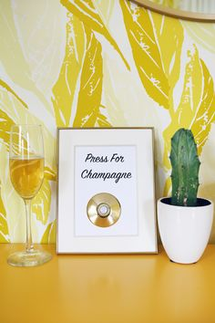Adorable! Press for Champagne sign DIY- working with @CanonUSA #CraftywithCanon #sponsored