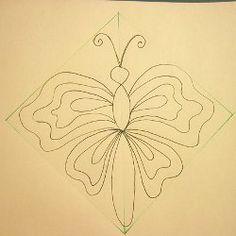 big and little butterflies, quilting designs