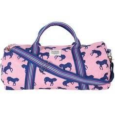 Fully lined cotton canvas horse duffle.  $54.