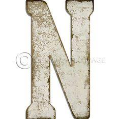 Letter N White Cutout