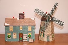 Dept. 56 Original Snow Village Home Sweet Home House and Windmill #51268 #babescollectibles