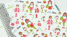 Winter Christmas planner stickers