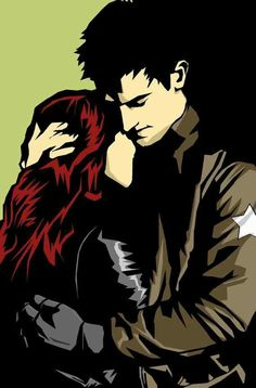 Bucky and Natasha / How could I forget by We can only hope this happens in Black Widow << I usually ship Romanogers with a passion but this was too cute to be ignored Natasha Romanoff, Comics Universe, Marvel Cinematic Universe, Marvel Avengers, Marvel Comics, Bucky And Natasha, Black Widow Winter Soldier, Marvel Couples, Fantasy Couples