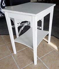 White Painted Shabby Chic Side Table