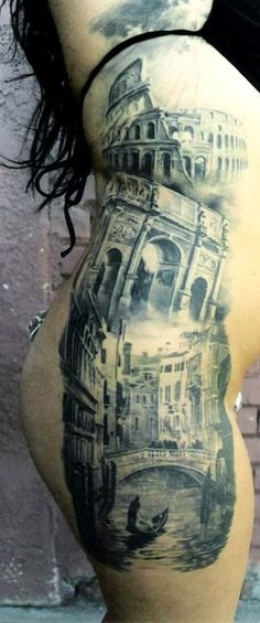 (by Carlos Torres) amazing italy themed tattoo