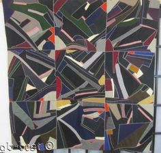 PA Dutch 30s Crazy Vintage Quilt Wools ABSTRACT Folk Art MENNONITE