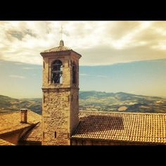 """""""Bell tower in San Marino with Italy in the background."""" - by @GloboTreks, via Instagram"""