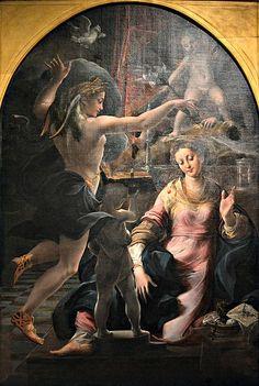 Annunciazione, Girolamo Mazzola Bedoli  Museo nazionale di Capodimonte