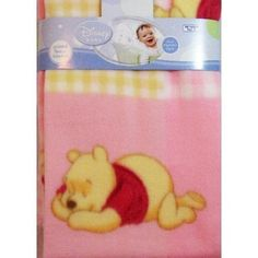 Winnie the Pooh Piglet Fleece Pink Baby Girl Blanket ** You can get more details by clicking on the image.