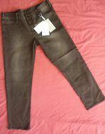 InWear Lady Slim Faded Black Skinny Jeans Stretchy Denim Trousers Ankle Grazer