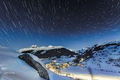 Switzerland, winter, Brigels, surselva, night, snow, stars, Christian Zedler