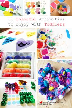 A Little Pinch of Perfect: 11 Colorful Activities to Enjoy with Toddlers (Love to Learn Linky #28)