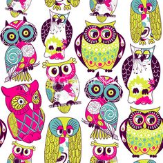 Eamless Owl Pattern.