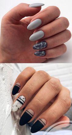 manicure with marble effect Edgy Nails, Get Nails, Ear Piercing Diagram, Different Nail Designs, Beautiful Nail Art, Cool Nail Art, Nail Polish Colors, Nail Inspo, Nails Inspiration