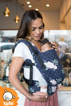 Baby Tula's fully adjustable, ergonomic Free-to-Grow Baby Carrier has variable width and height settings to customize its fit to your growing baby. This innovative, no fuss design does not require an infant insert and can be used beginning at 7lbs. Find the style that fits you!