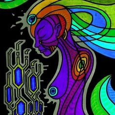 """Surrender"" (Ink on paper, Acid Trip, Visionary Art, Psychedelic Art, Spirituality, Science, Ink, Random, Paper, Artist"