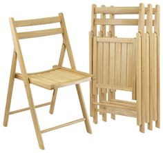 Winsome Folding Chairs, Beech Wood, Set of 4 - transitional - Outdoor Folding Chairs - Cymax