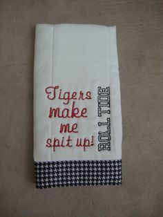 Alabama Burp Cloth