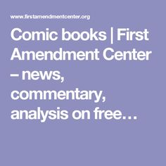 This article is a good overview of First Amendment issues around the Comics Code Authority.  Too long and too high a reading level for direct use in the classroom, this is a good resource for the teacher.  Use the information to develop a an aesthetics lesson about art and freedom of expression.  Why does our country allow some restrictions to the First Amendment?  (James D. McWilliams, Contributing Writer, Friday, October 24, 2003