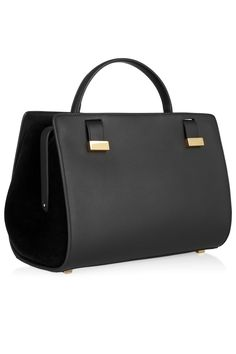 The Row - Leather and suede doctor bag cae44fa866f48