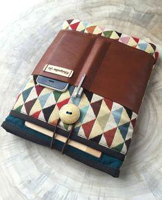 Notebooktaschen - IPAD-Hülle Organizada mit Leder und 4x Fächer! - ein Designerstück von Chiquita-Jo bei DaWanda