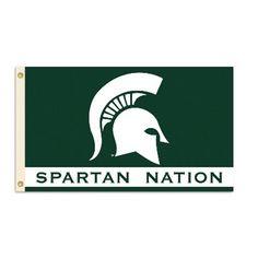 Michigan State Spartans Team Nation Flag