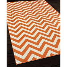 Indoor/ Outdoor Orange Chevron Rug (8u00276 X 13u0027) By Nolita Rugs