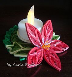 Paper Quilling Cards, Paper Quilling Flowers, Quilling Craft, Quilling Designs, Quilling Ideas, Quilling Christmas, Christmas Crafts, Candle Stand, Candle Holders